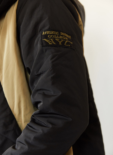 XHAN Siyah & Kahverengi Kapüşonlu Parka 0Yxe4-44080-02 Siyah